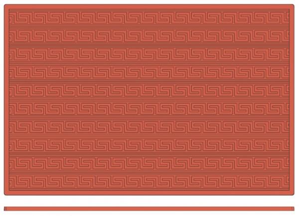Backreliefplatten - Mäander - Länge 60,0 cm - Breite 40,0 cm