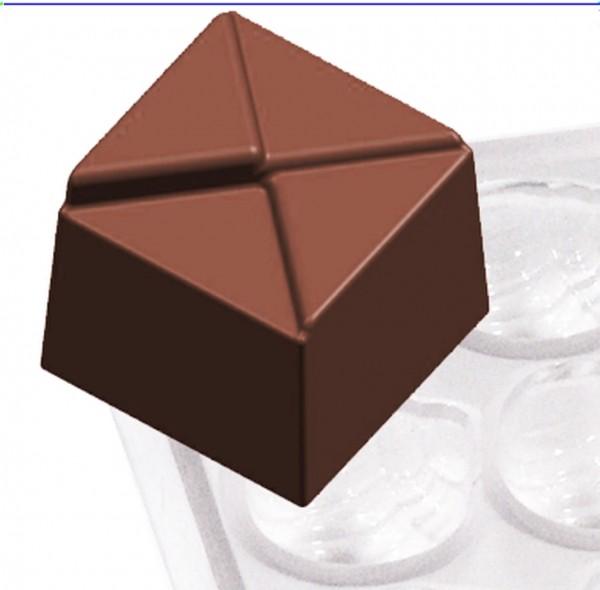 Pralinenform Quadrat 21,0 x 21,0 x 18,0 mm - Formen 36
