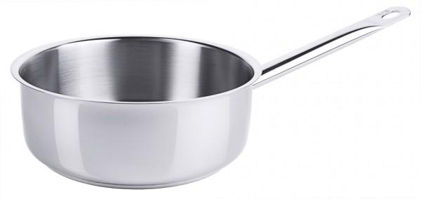 Stielkasserolle niedrig-20 cm-Inhalt 2,4 Liter-Hoehe 7,5 cm