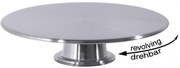 Drehbare Tortenplatte 30,0 cm-Hoehe 7,5 cm