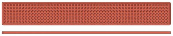 Backreliefplatten - Kugeln - Länge 60,0 cm - Breite 8,0 cm