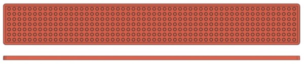 Backreliefplatten-Kugeln-Laenge 60,0 cm-Breite 8,0 cm