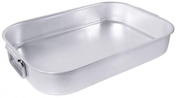 Bratpfanne-Laenge 49,5 cm-Breite 32,0 cm-Hoehe 8 cm-Volumen 10 Liter