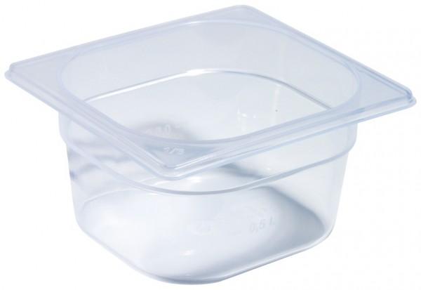 GN Behälter 1/6 - Polypropylen - 100 mm tief - Volumen 1,5 Liter