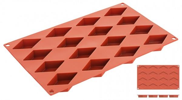 Silikon-Backmatte Diamant 6,5 x 3,5 cm - 16 Formen