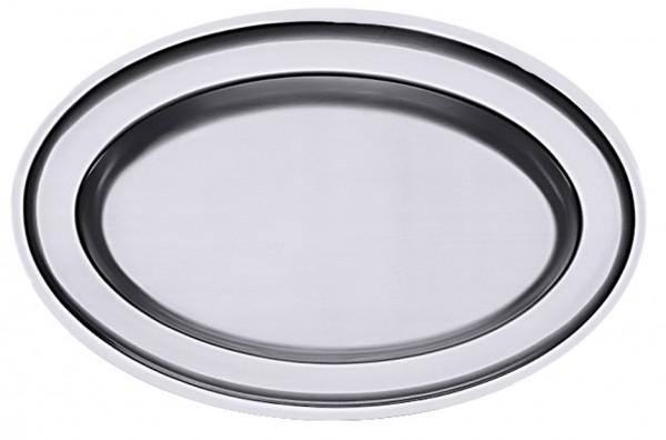 Bratenplatte oval - Maße 47,0 x 31,0 cm - Höhe 3,0 cm