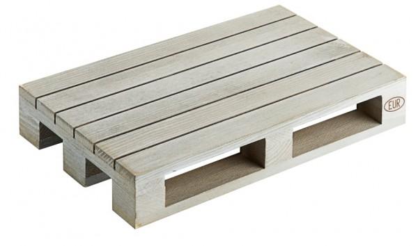 Holzpalette 20 x 13 cm, grau