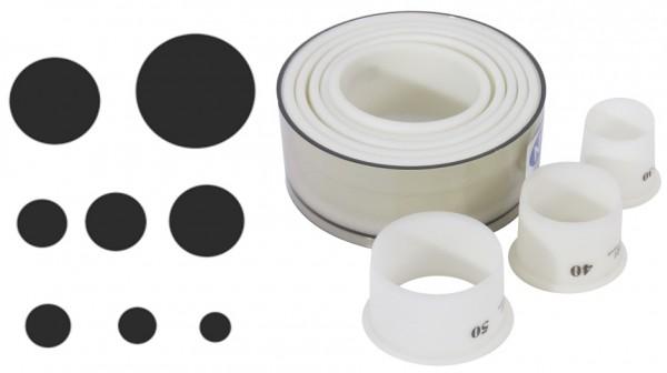 Ausstechersatz rund-glatt-8 Ausstecher von 3,0 bis 10,0 cm