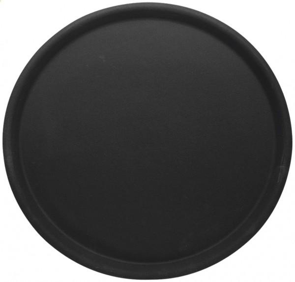 Tablett rund, rutschfest Ø 38,0 cm - Höhe 1,5 cm - schwarz