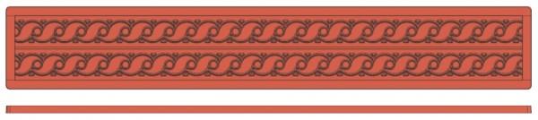 Backreliefplatten - Wellen - Länge 60,0 cm - Breite 8,0 cm