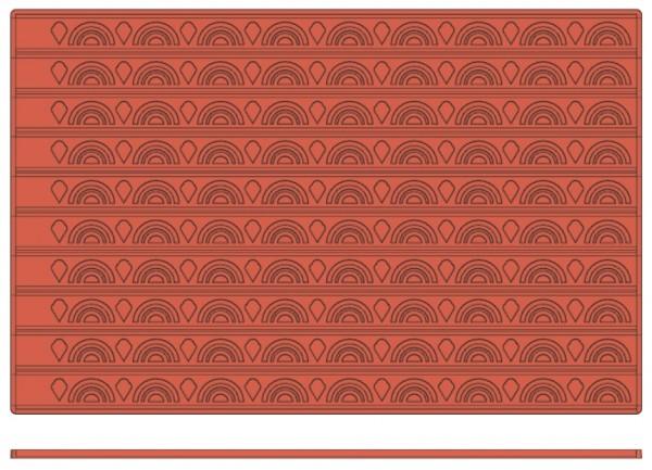 Backreliefplatten - Rundbogen - Länge 60,0 cm - Breite 40,0 cm
