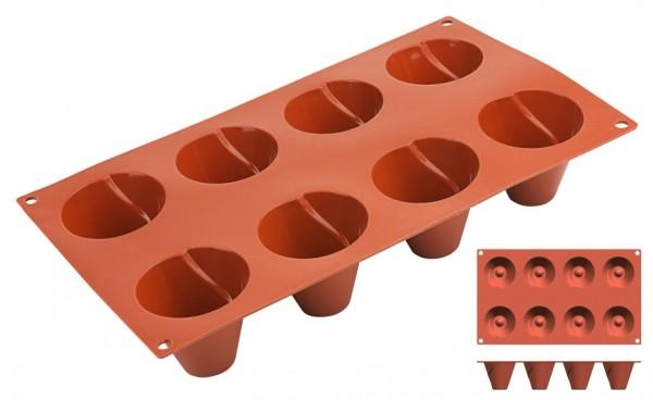 Silikon-Backmatte Kegel Ø 5,5 cm - 8 Formen