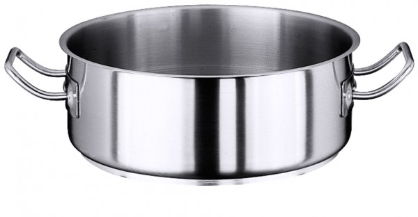 Bratentopf flach 14,0 cm-1,0Liter-Hoehe 7,0 cm-Boden 12,0 cm