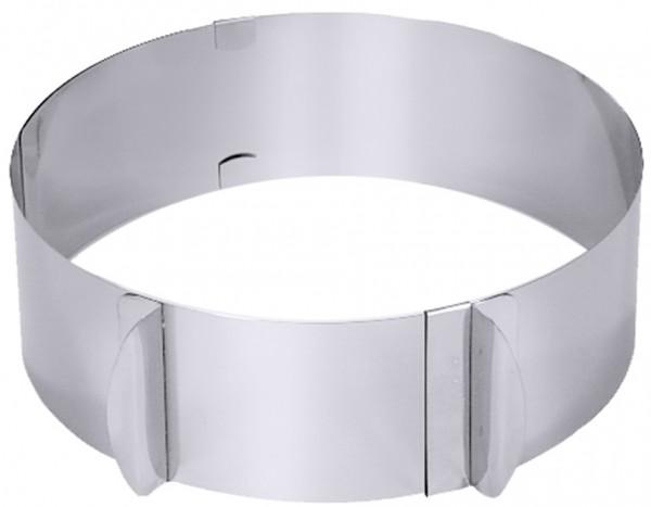Tortenring verstellbar-16,5 cm bis 32,0 cm-Hoehe 6,0 cm