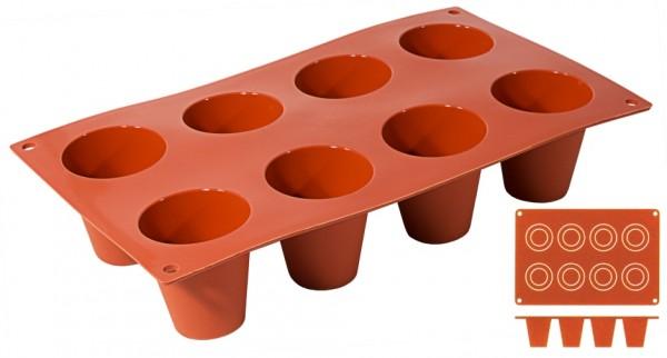 Silikon Backmatte DARIOL Ø 3,5 cm - Höhe 3,8 cm - 8 Formen