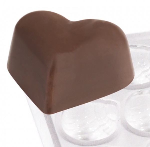Pralinenform Herz 22,0 x 27,0 x 15,0 mm - Formen 21