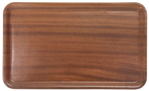 Tablett GN 1/1-Laenge 53,0 cm-Breite 32,5 cm-Hoehe 1,8 cm-mahagoni