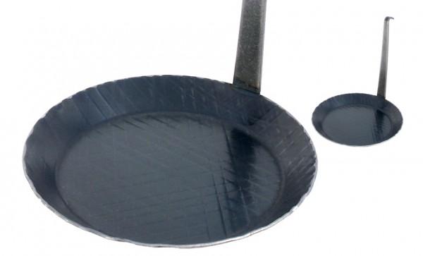 Brat- und Servierpfanne 20 cm-Hoehe 2,8 cm-Boden 14,5 cm-Stiel hochstehend
