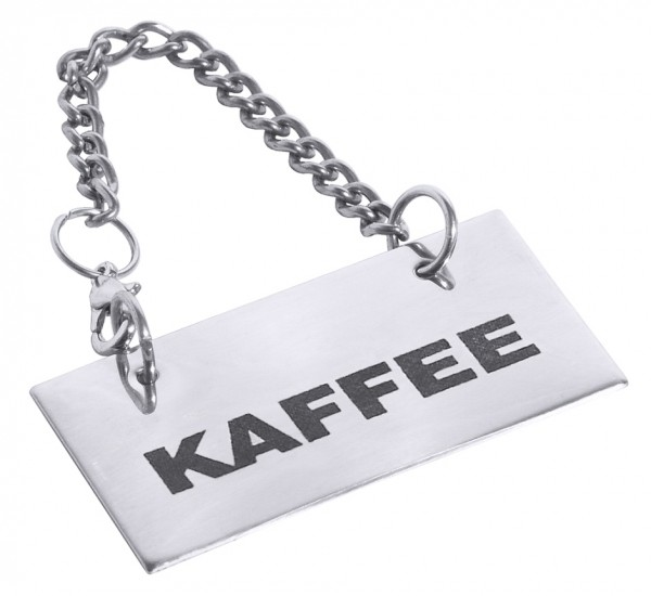 Schild fuer Kannen: KAFFEE
