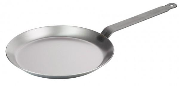 Crepes Eisenpfanne 23,5 cm-Hoehe 2,0 cm-Stiellaenge 20 cm