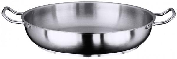 Bratpfanne matt 80 cm-Hoehe 17,0 cm-Boden 62,0 cm-Paellapfanne