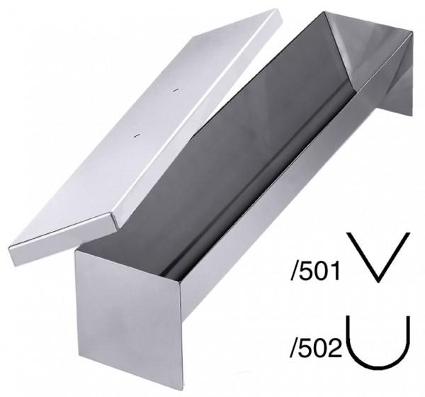 Pastetenform-Masse 50,0 x 10,0 cm-Hoehe 9,0 cm-Volumen 3,5 Liter-halbrund