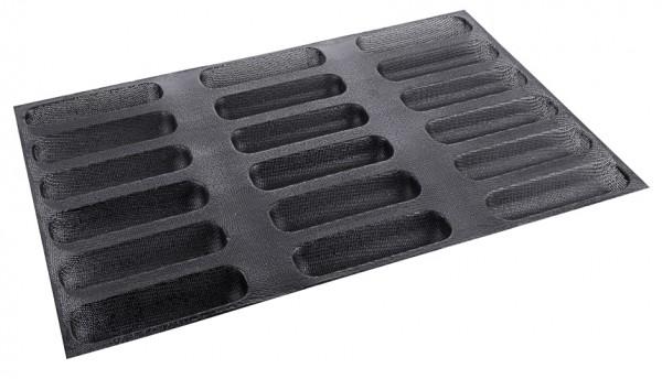 Silikon-Backmatte Hot Dog - 8 Formen - 15,5 cm