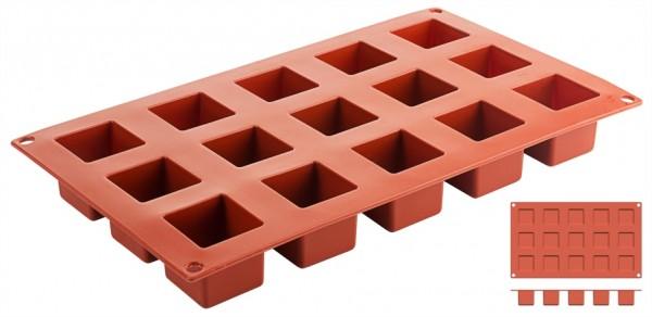 Silikon-Backmatte Würfel 3,5 x 3,5 cm - 15 Formen