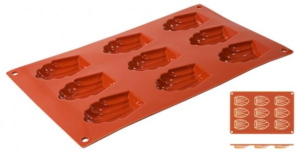 Silikon Backmatte MADELEINE 6,8 cm x 4,5 cm - Höhe 1,7 cm - 9 Formen