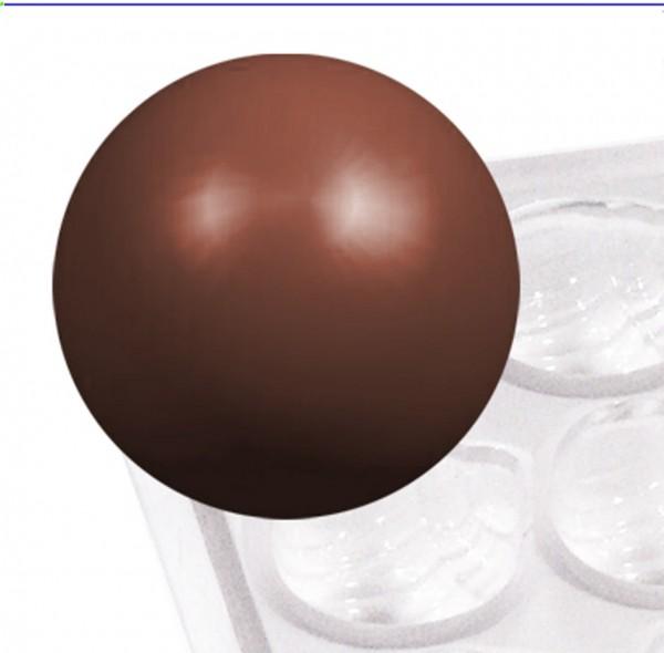 Pralinenform Kugel Ø 20,0 mm - Höhe 10,0 mm - Formen 36