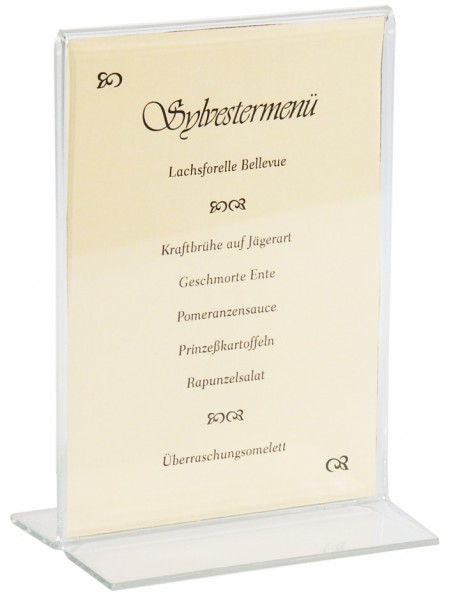 Acryl Kartenhalter - 21,0 cm x 15,0 cm - für DIN A5 Karten