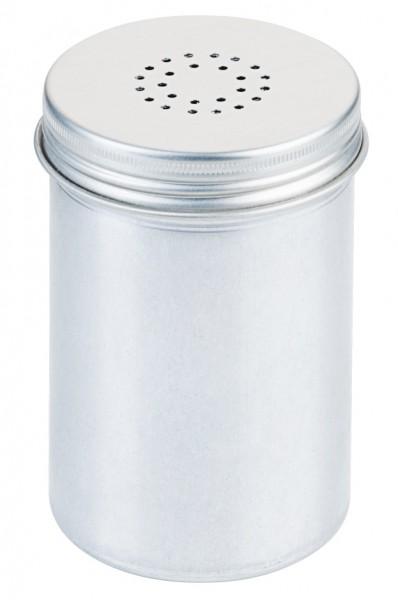 Pfefferstreuer Aluminium 6,5 cm-Hoehe 12,0 cm-Lochung 1 mm