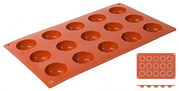Silikon Backmatte HALBKUGEL Ø 4,0 cm - Höhe 2,0 cm - 15 Formen