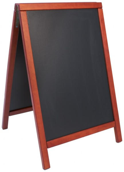Doppeltafel 85 cm, mahagoni