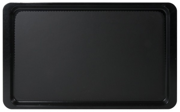 Tablett Euronorm 1/1-Laenge 53,0 cm-Breite 37,0 cm-Hoehe 1,6 cm-schwarz