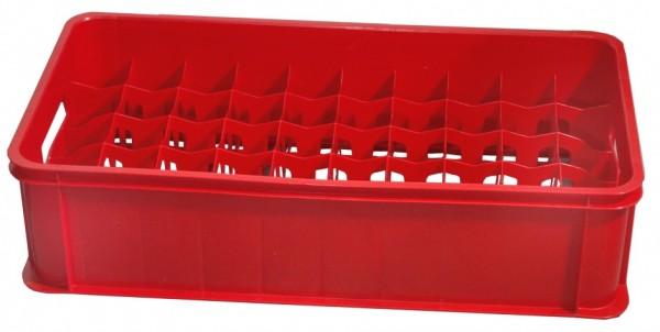 Glaeserkasten 50 Faecher, rot