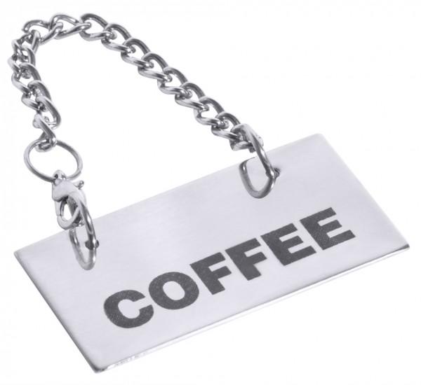 Schild fuer Kannen: COFFEE