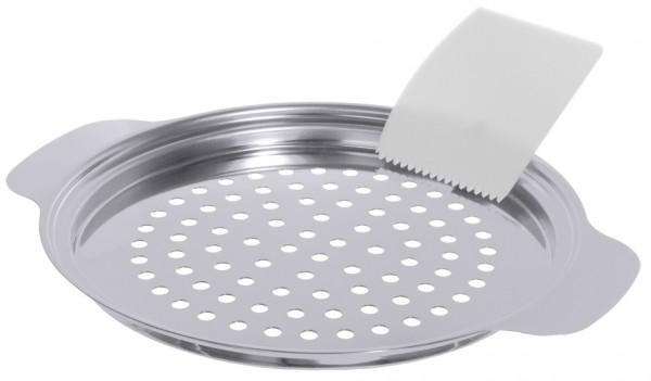 Spaetzlesieb mit Schaber aussen 27,0 cm-Hoehe 2,0 cm