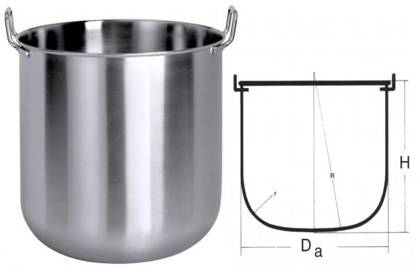 Maschinenkessel innen 300mm-Hoehe 250mm-Inhalt 16 Liter