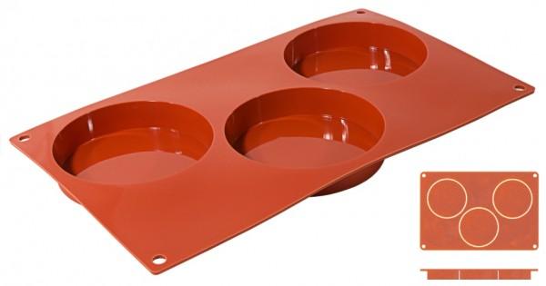 Silikon-Backmatte Biskuit-3 Formen