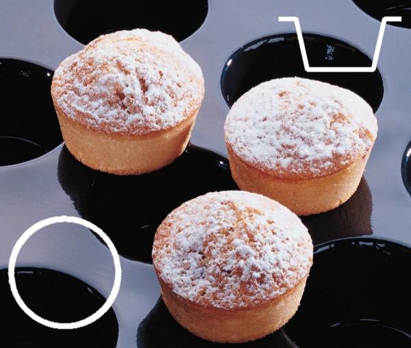 Silikonmatte - Mini Muffins Ø 5,1 cm - Höhe 3,0 cm - 40 Formen
