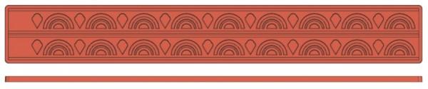Backreliefplatten - Rundbogen - Länge 60,0 cm - Breite 8,0 cm