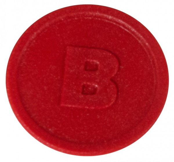 Biermarken B 2,5 cm-Farbe rot