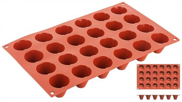 Silikon-Backmatte Kegel Ø 3,4 cm - 24 Formen
