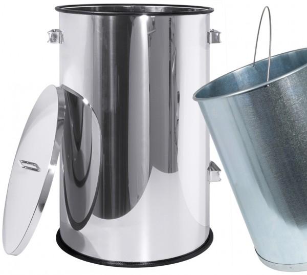 Abfallbehaelter mit Deckel 40,0 cm-Hoehe 60,0 cm-Volumen 70,0 Liter