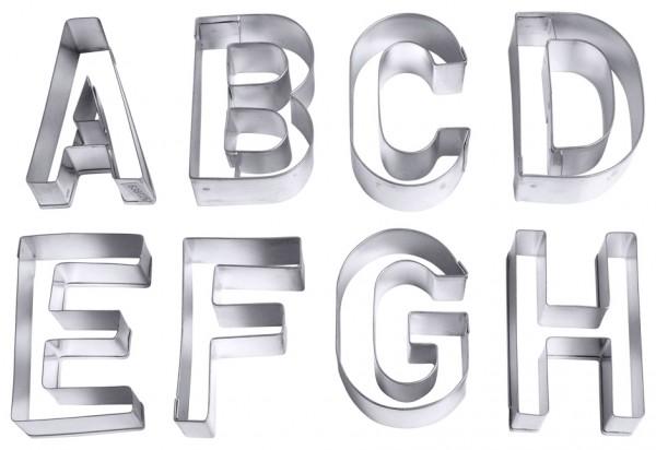 Ausstechformen Buchstaben gross-Set von A-Z