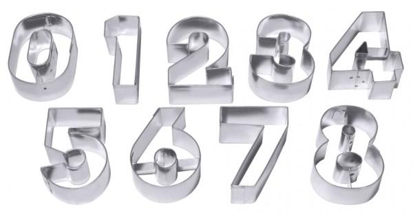 Ausstechformen Zahlen groß - Ziffern 0-9