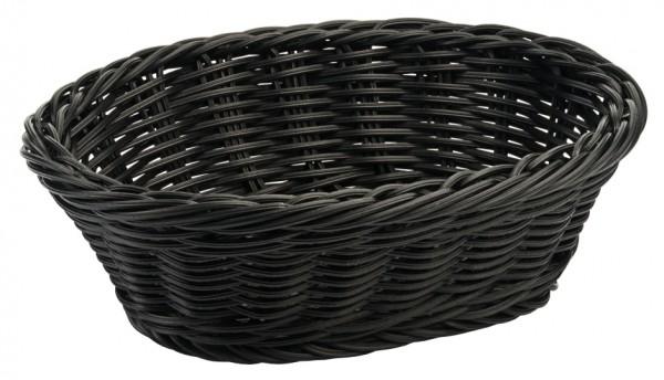 Polykorb, oval 23 cm, schwarz