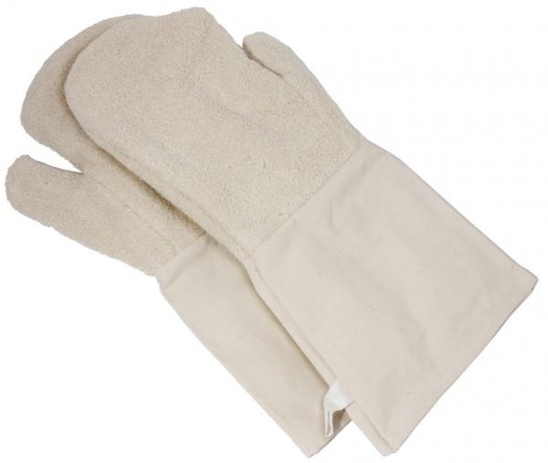 Backhandschuhe mit Stulpen-Laenge 44,5 cm-Breite 15 cm