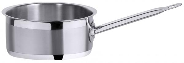 Stielkasserolle flach 20 cm-3,00Liter-Hoehe 11 cm-Boden 19 cm